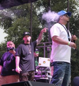 Paul Wall and Baby Bash at the 2017 Boston Freedom Rally